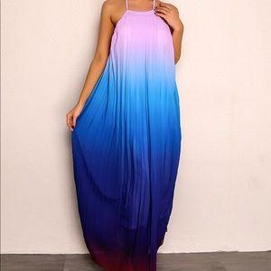 Shein Backless Ombré Dress